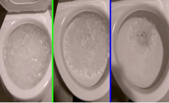 thông tắc vệ sinh bằng đá viên hiệu quả