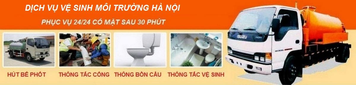Thông tắc cống hút bể phốt ở tại Hà Nội giá rẻ - 0982.048.578